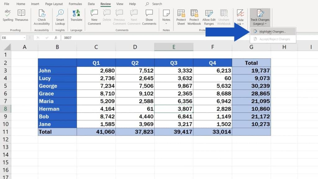 How to Track Changes in Excel - highlight changes in Excel