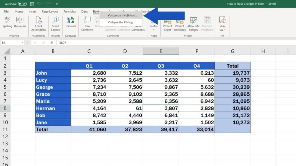 How to Track Changes in Excel - how to add option track changes