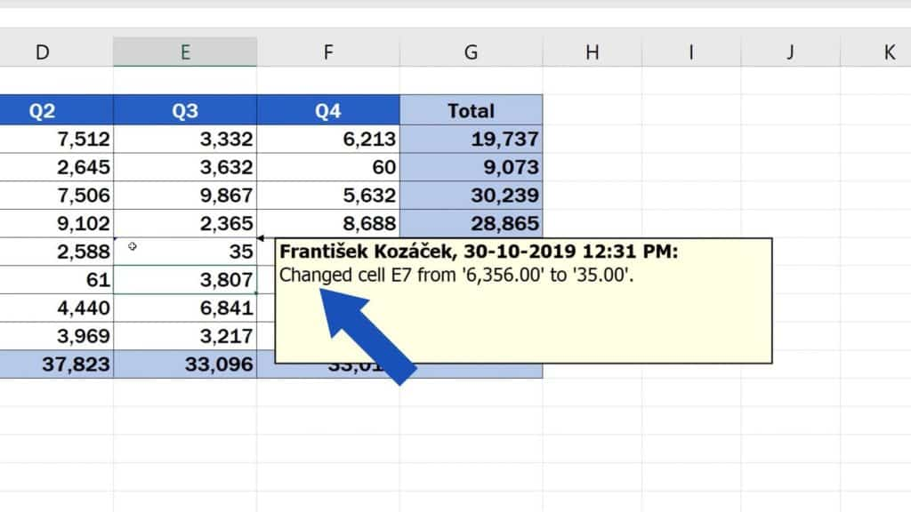 How to Track Changes in Excel - how to notice changes in Excel
