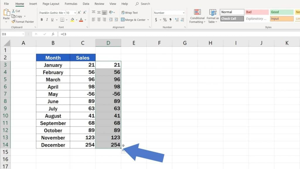 Try out Data Bars in Excel for clear graphical data representation - copy data into separate column to see them visually