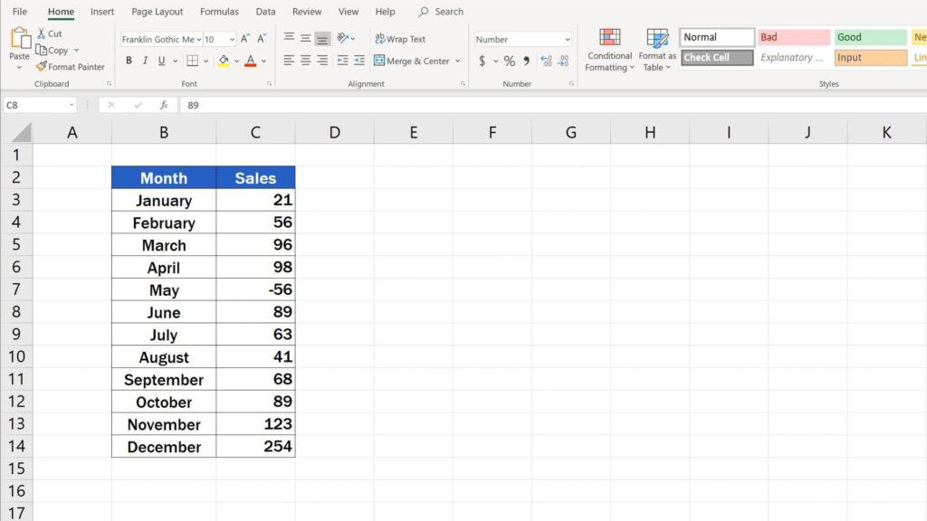 Try out Data Bars in Excel for clear graphical data representation - removing of data bars in Excel