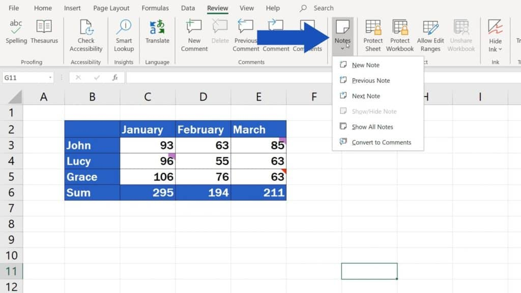 How to Insert Comment and Note in Excel -how can I edit notes in Excel