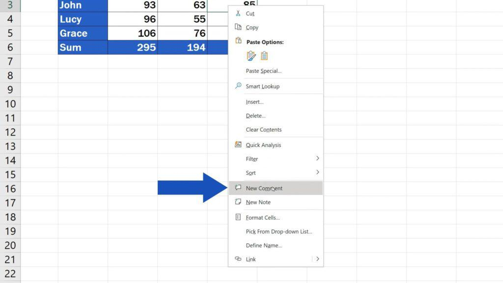 How to Insert Comment and Note in Excel - how to adde comment in Excel
