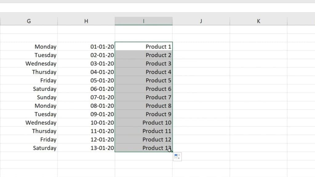 How to Use AutoFill in Excel - automatical filling of cells in Excel