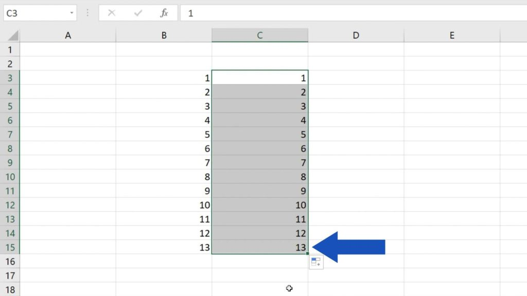 How to Use AutoFill in Excel - automatically written numbers in Excel