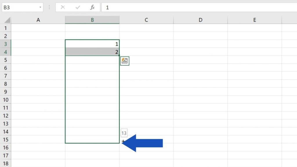 How to Use AutoFill in Excel - how to automatically fill a series of numbers in Excel