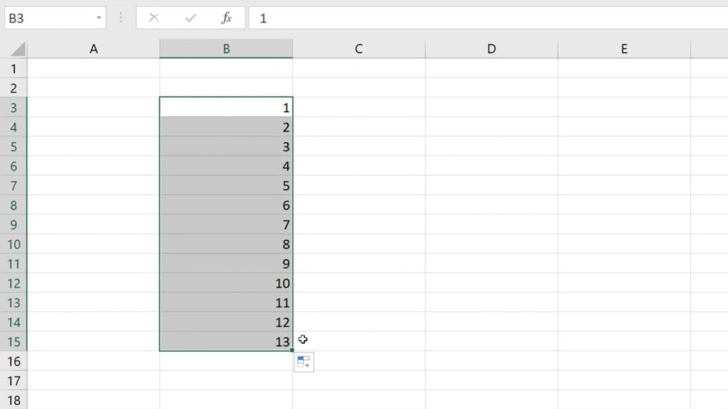 How to Use AutoFill in Excel - to fill a series of numbers automatically in Excel