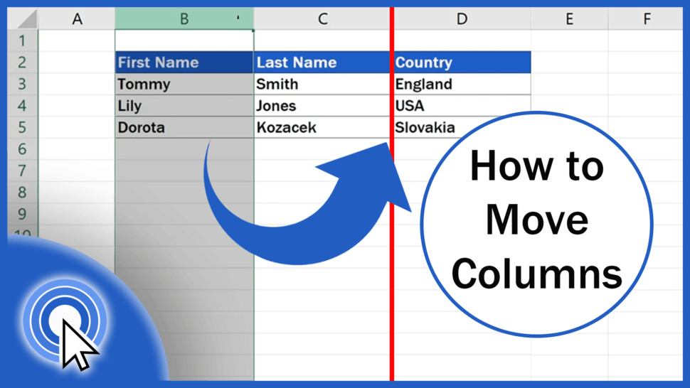How to Move Columns in Excel