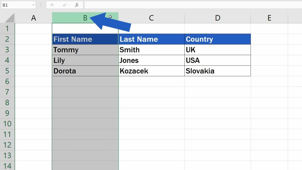How to Move Columns in Excel - how to reorganize columns in Excel
