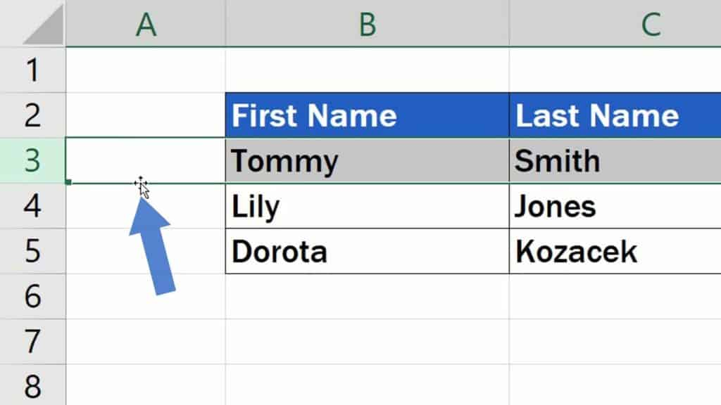 How to Move Rows in Excel - how to shift rows in Excel under the others rows