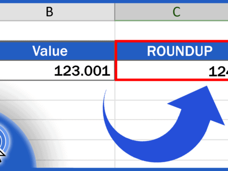 How to ROUNDUP in Excel