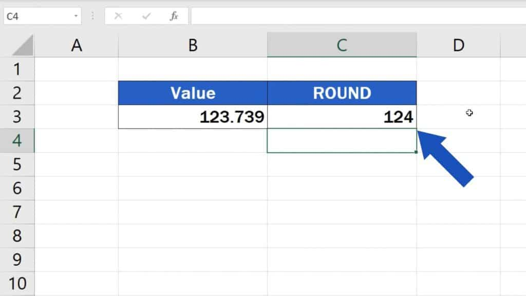 How to round the value so that you would make it a whole number - results