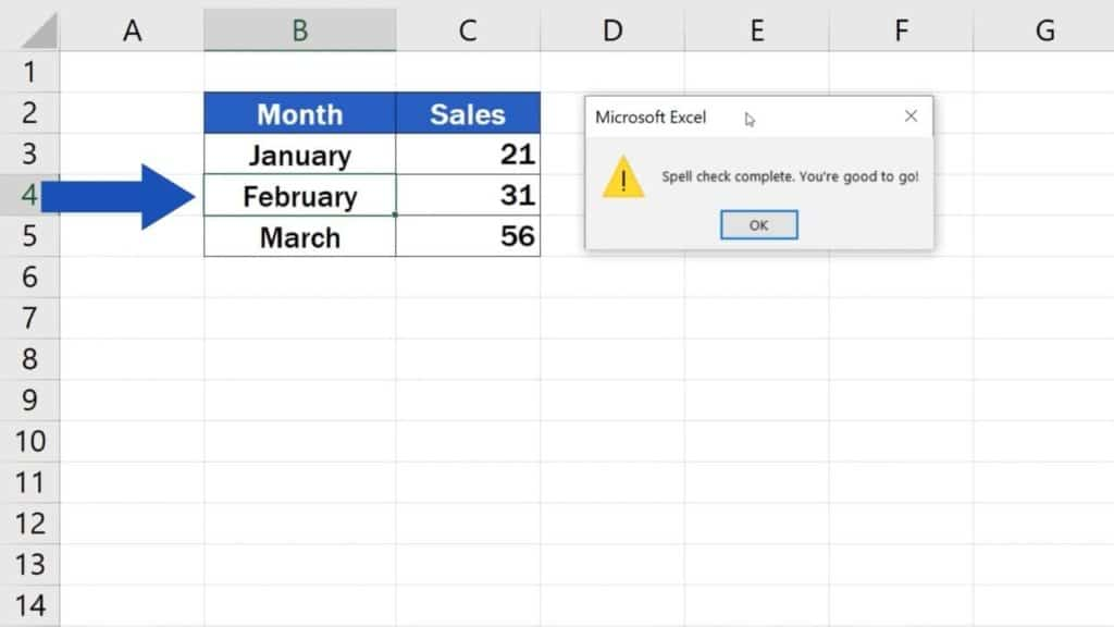 How to Check Spelling in Excel and Avoid Typos - Corecting the typo