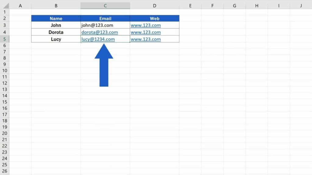 How to Remove Hyperlinks in Excel - Edited hyperlink