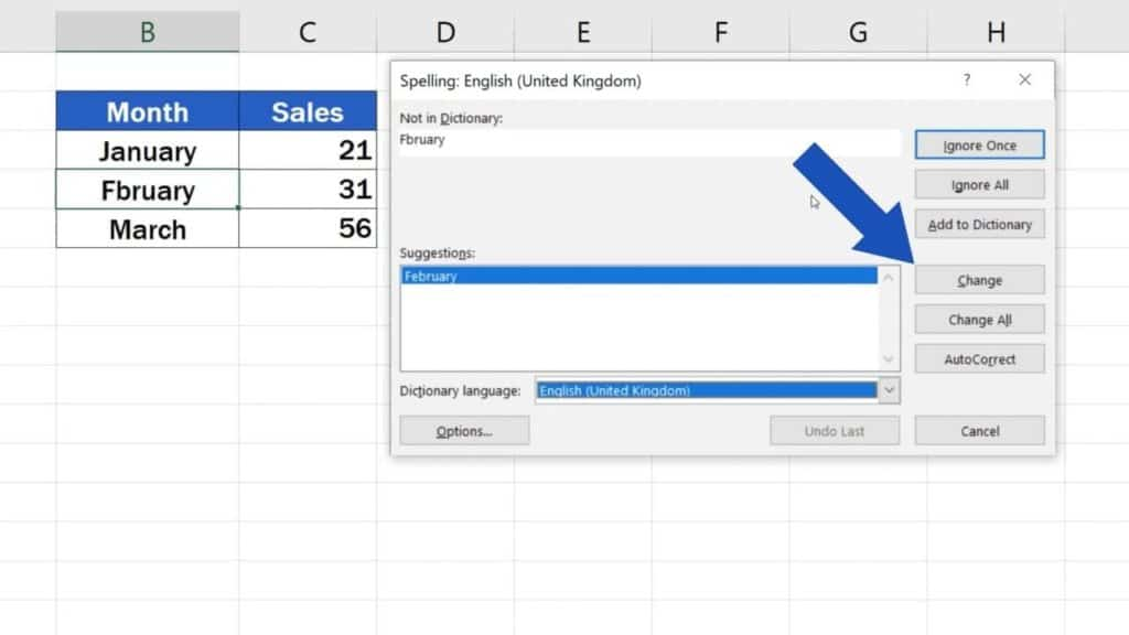 How to Check Spelling in Excel and Avoid Typos - Change spelling