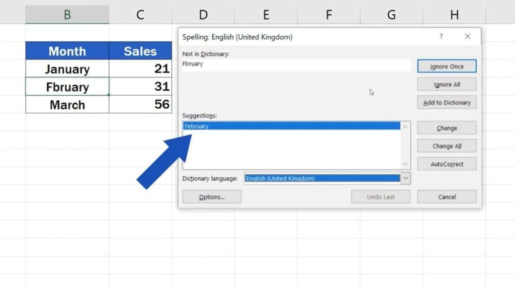 How to Check Spelling in Excel and Avoid Typos - Suggestions