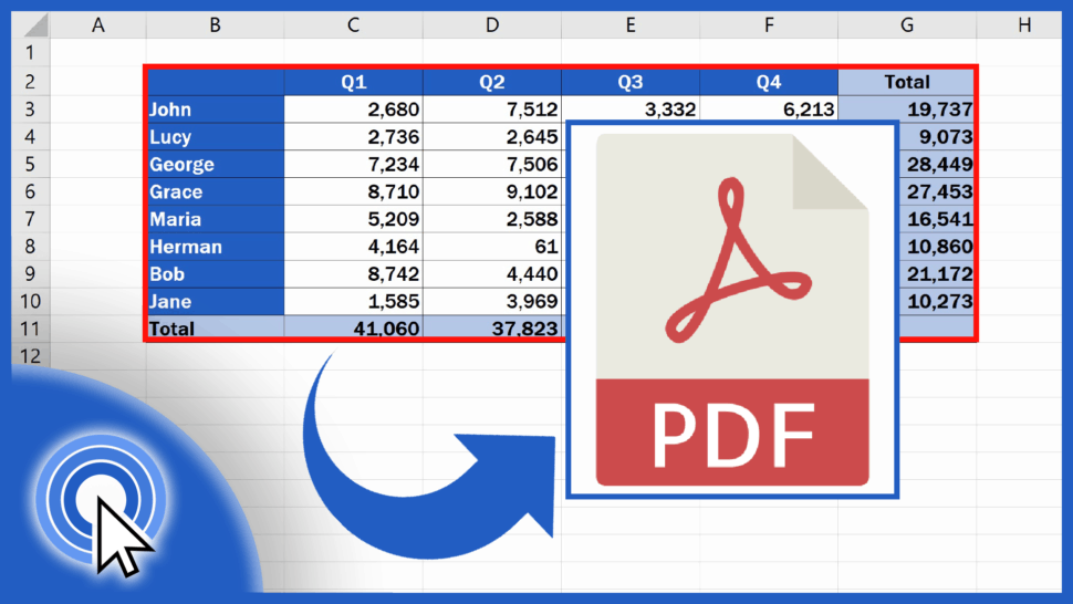 How to Convert an Excel File into PDF