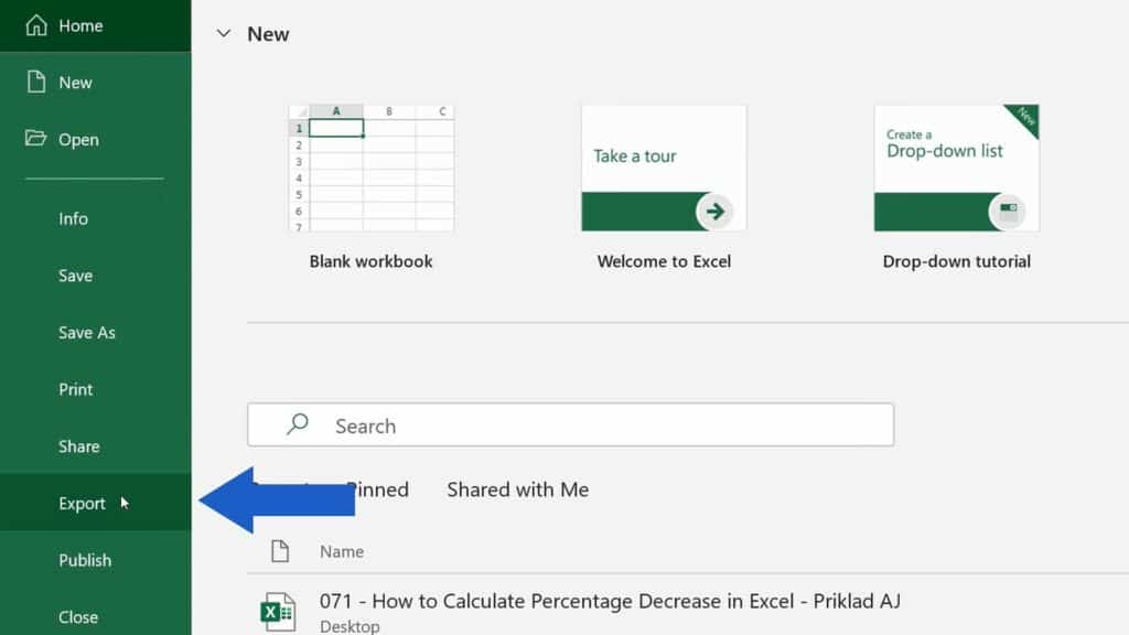 How to Convert an Excel File into PDF - Export