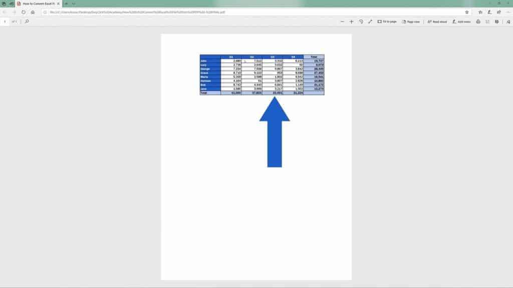 How to Convert an Excel File into PDF - Final PDF File