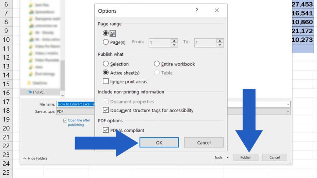 How to Convert an Excel File into PDF - Final Publish