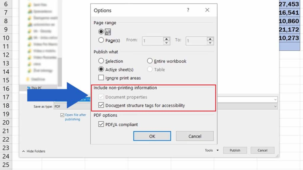 How to Convert an Excel File into PDF - Include non-printing Information