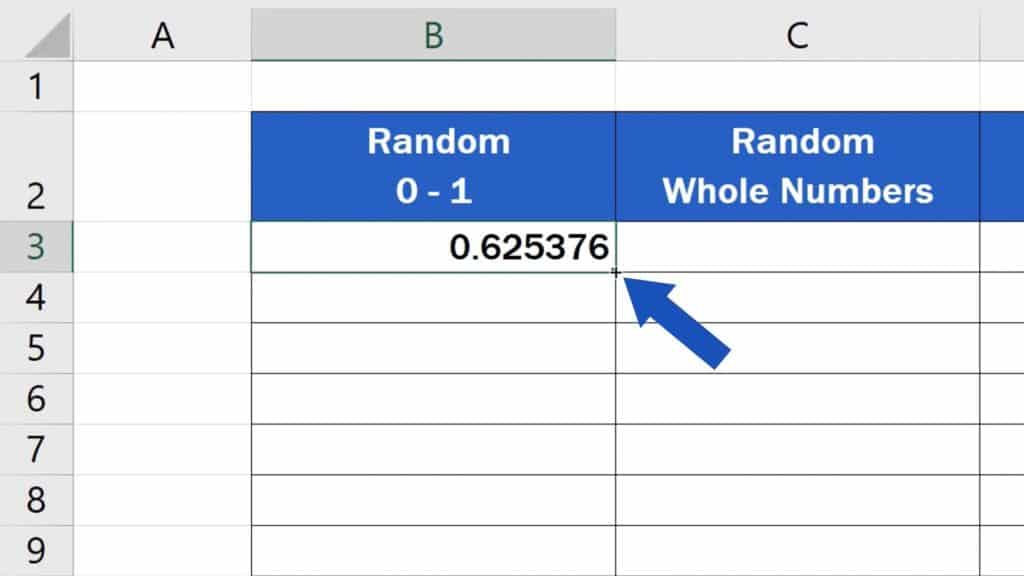 How to Generate Random Numbers in Excel - How to generate more random numbers between 0 and 1