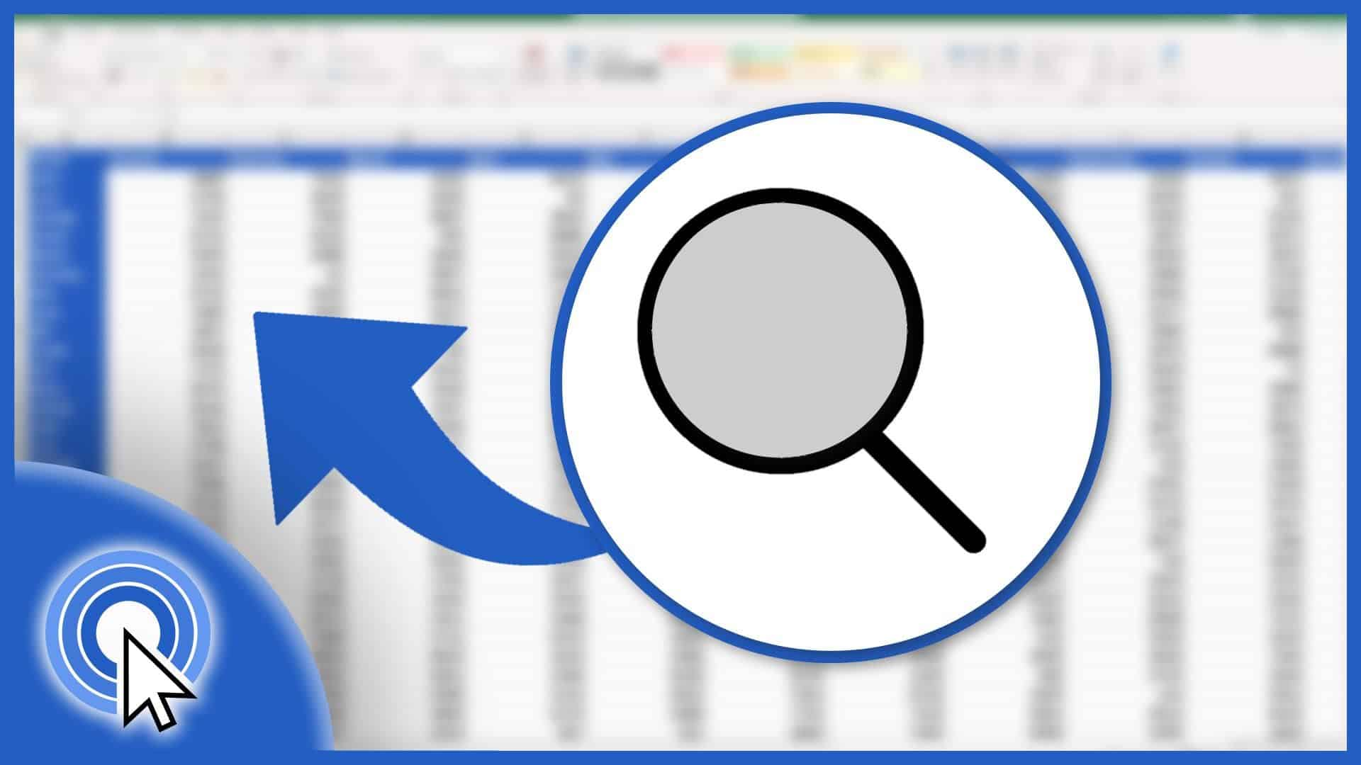 How to Search in Excel Sheet