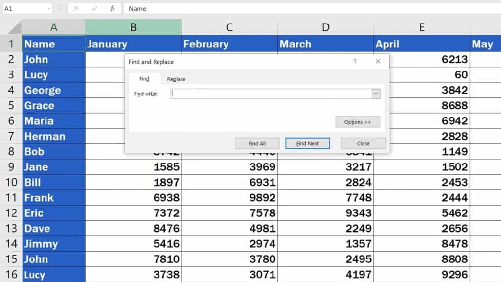 How to Search in Excel Sheet - Pop Up Window