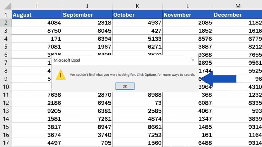 How to Search in Excel Sheet -  Zero Results