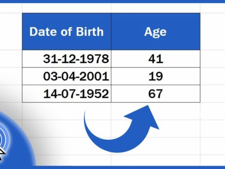How to Calculate Age From Date of Birth in Excel
