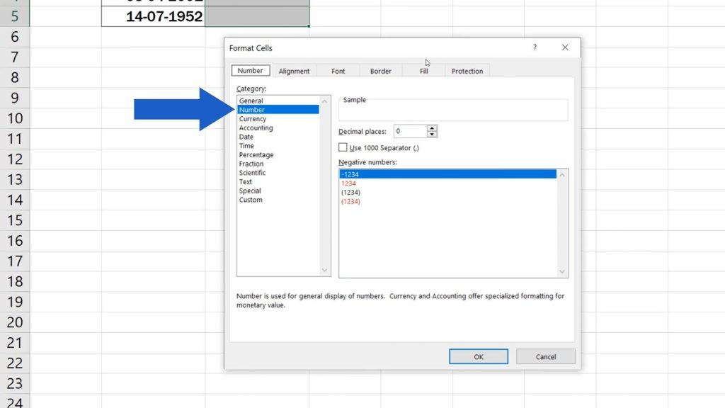 How to Calculate Age Using aDate of Birth in Excel - Cells Formated As Number
