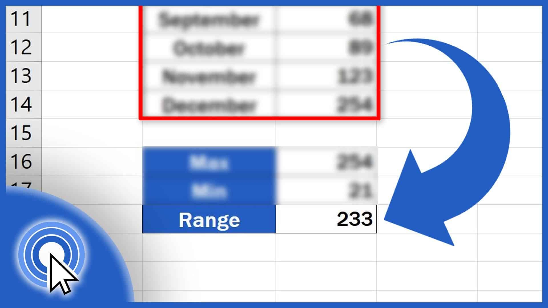 How to Calculate the Range in Excel