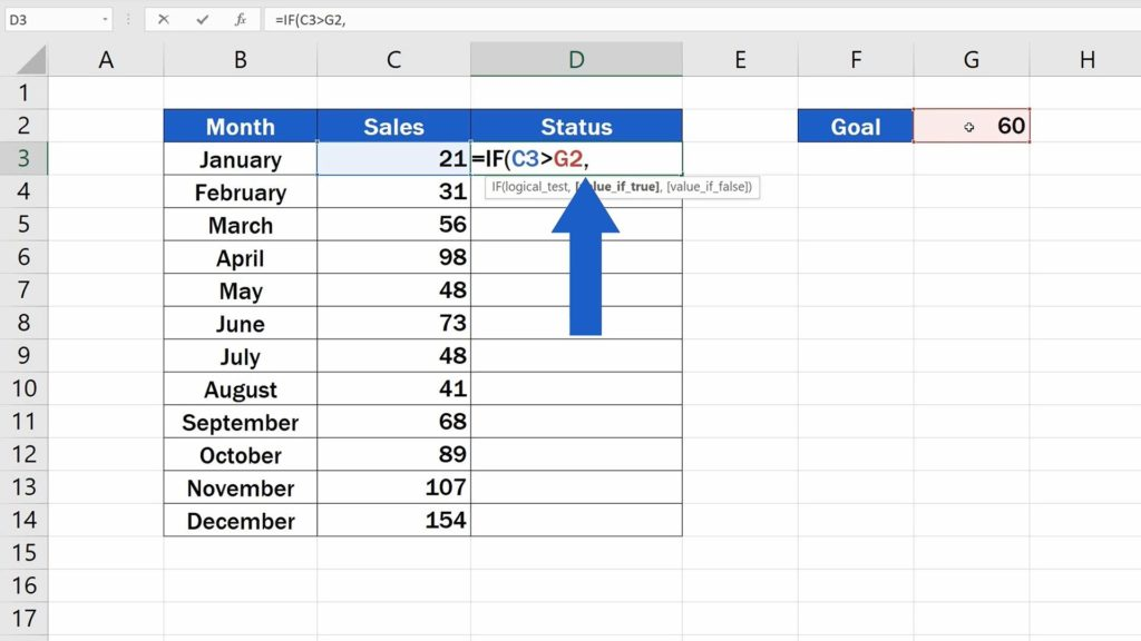 How to Use IF Function in Excel - Comma