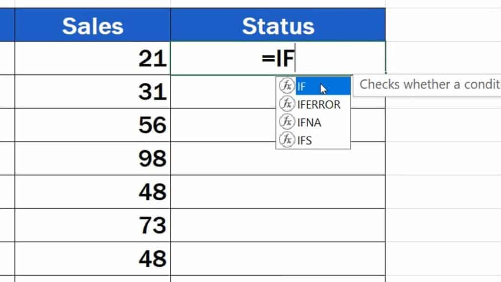 How to Use IF Function in Excel - IF Function