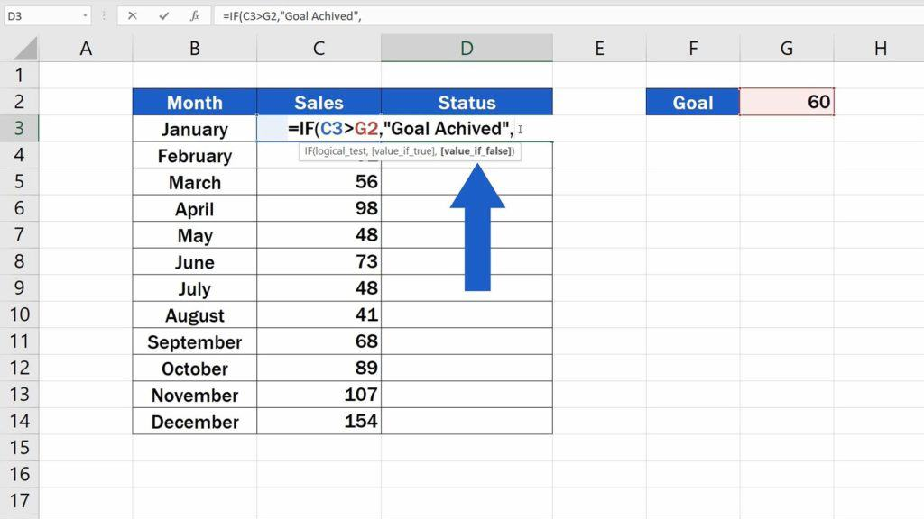 How to Use IF Function in Excel - Value If False