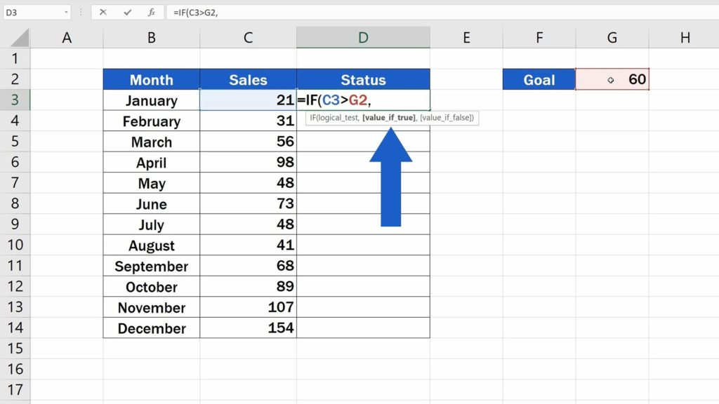 How to Use IF Function in Excel - Value if true