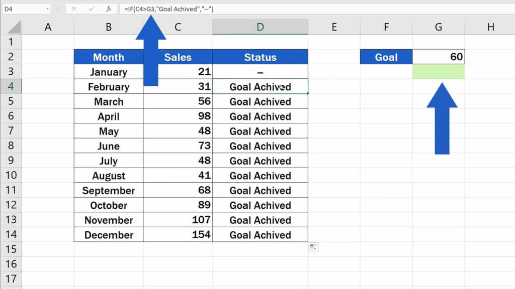How to Use IF Function in Excel - no value