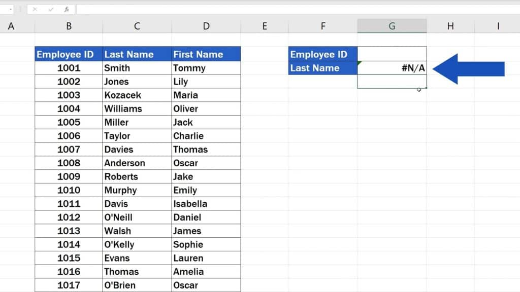 How to Use the VLOOKUP Function in Excel - The VLOOKUP Function - No result