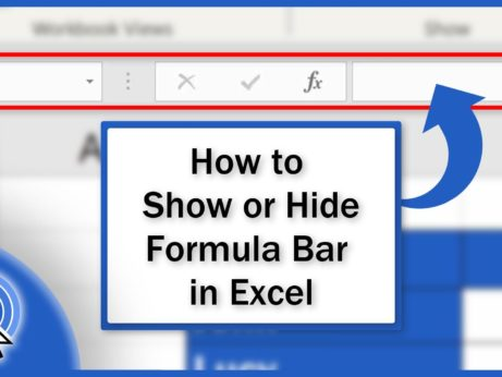 How to Show or Hide Formula Bar in Excel