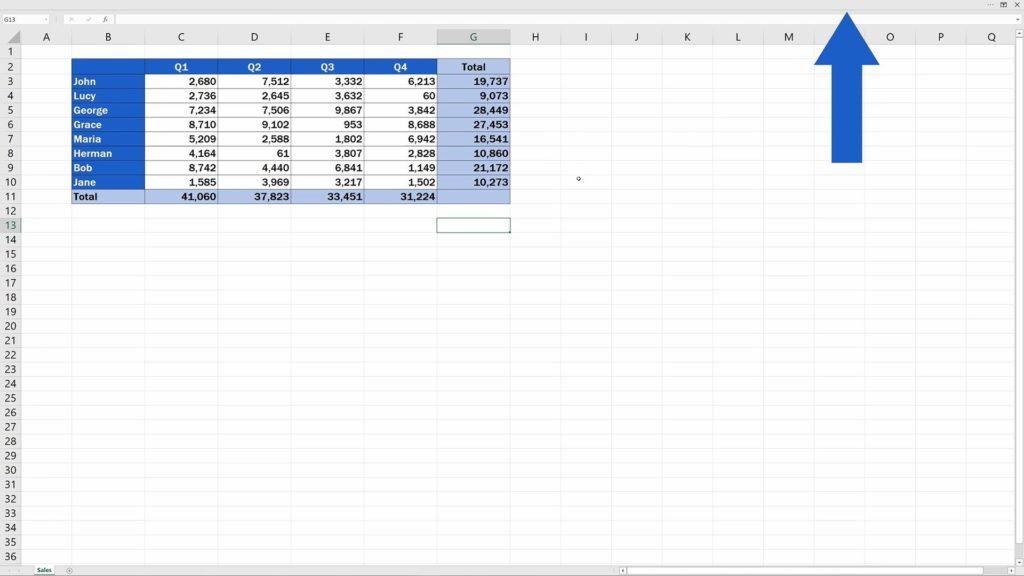 How to Show or Hide the Ribbon in Excel - Ribbon disapeared