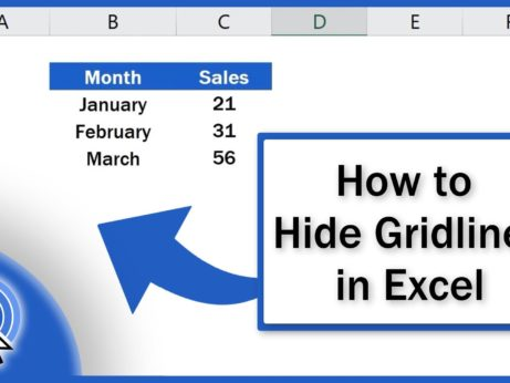 How to Hide Gridlines in Excel