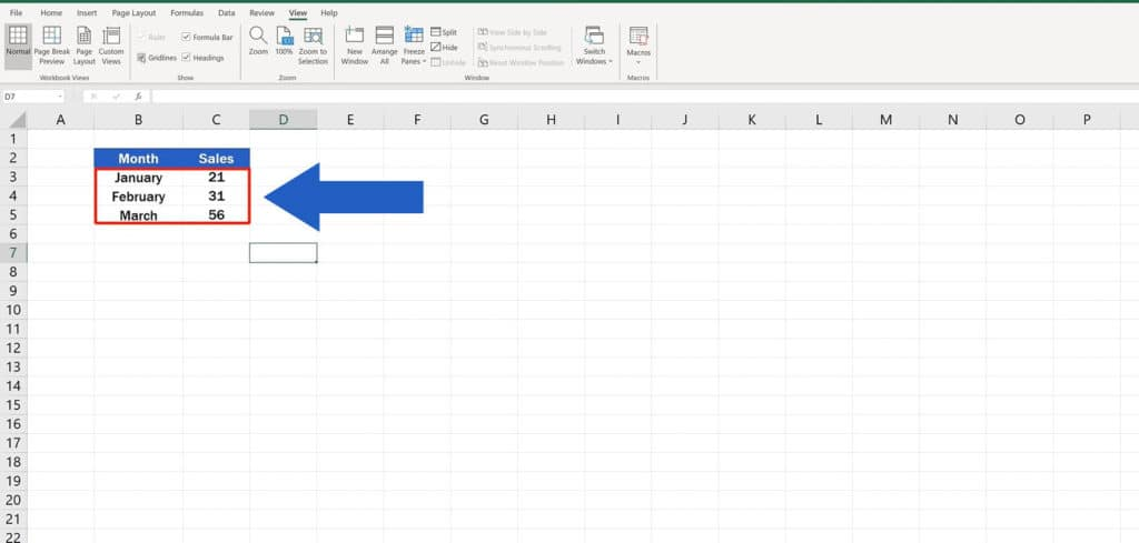 How to Hide Gridlines in Excel - How to Hide Gridlines in a Selected Area