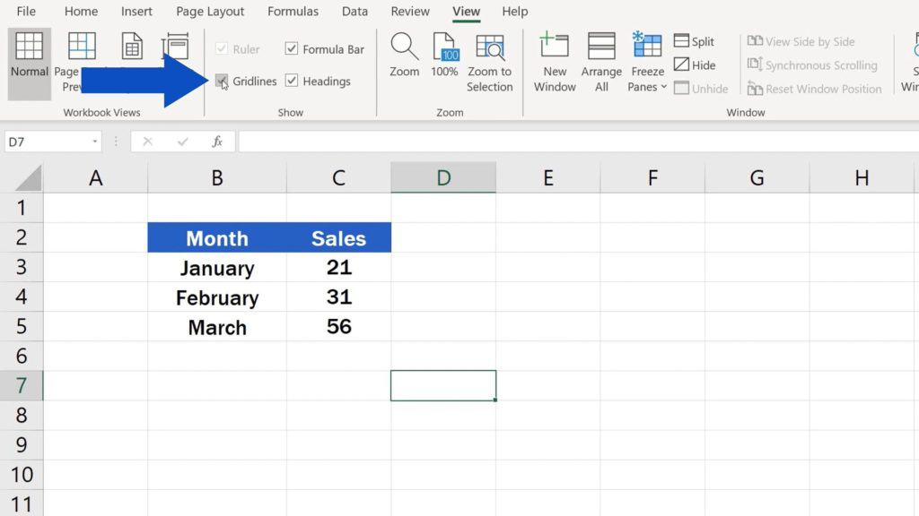 How to Hide Gridlines in Excel - How to Show Gridlines in Excel