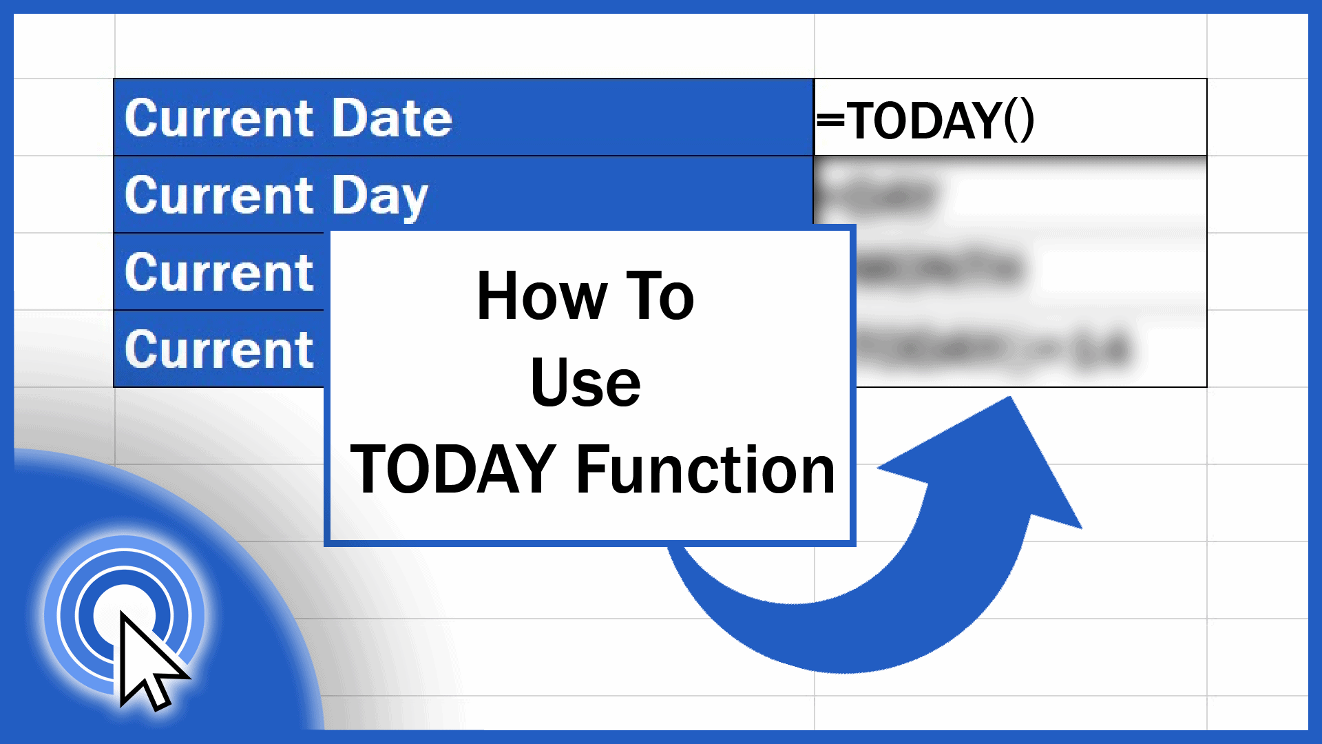 How to Use TODAY Function in Excel