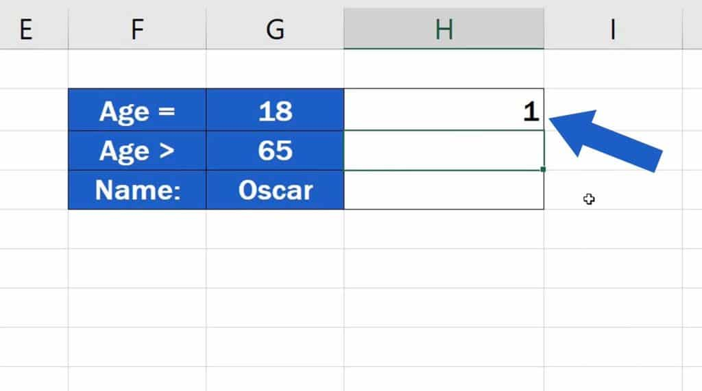 How to Use the COUNTIF Function in Excel - COUNTIF Function - Result