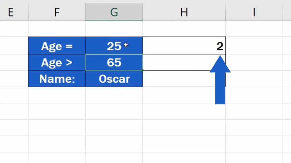 How to Use the COUNTIF Function in Excel -  Extract the value for Criteria from aselected cell - Result