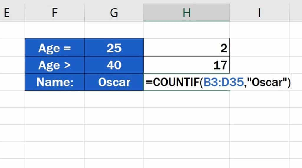 How to Use the COUNTIF Function in Excel - how to use the COUNTIF function with text.