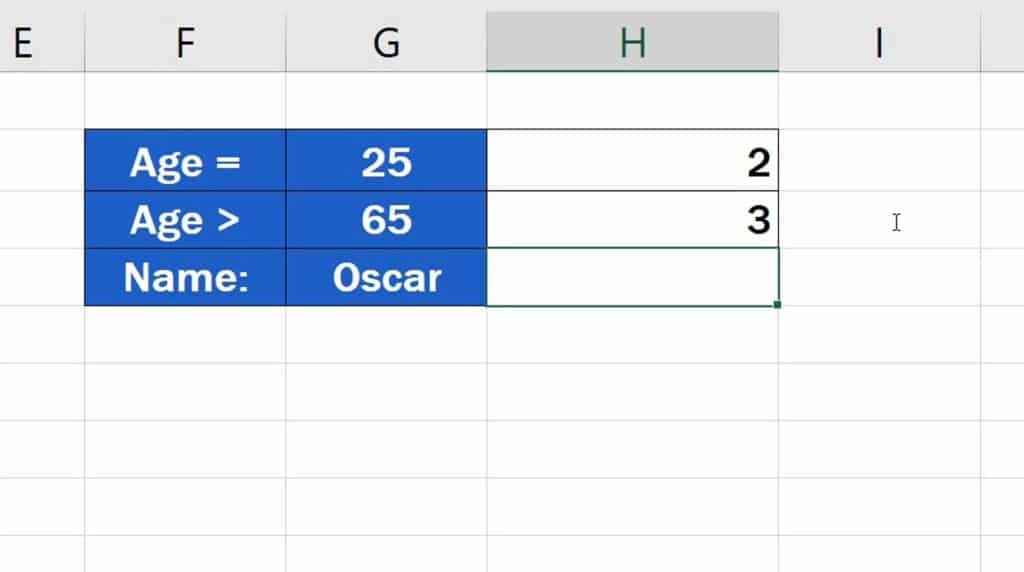 How to Use the COUNTIF Function in Excel - the Criteria is based on comparing values - Result