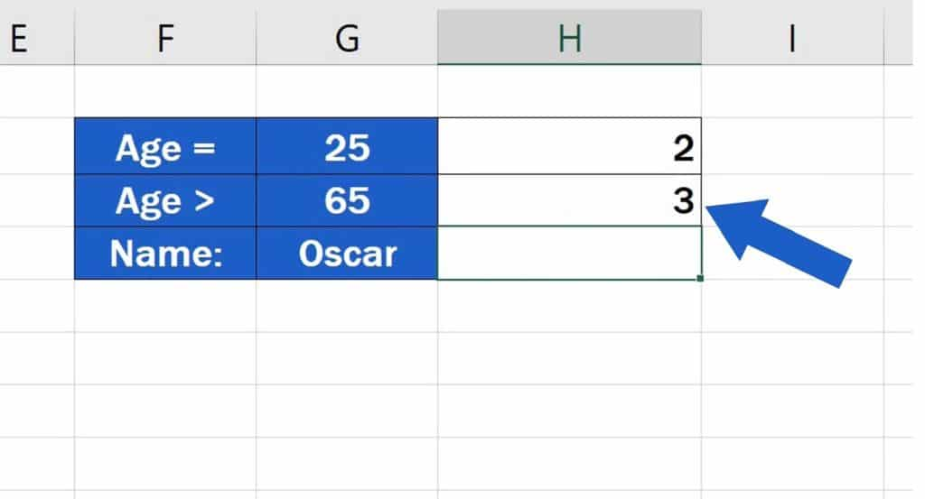 How to Use the COUNTIF Function in Excel - the Criteria is based on comparing values - Same result