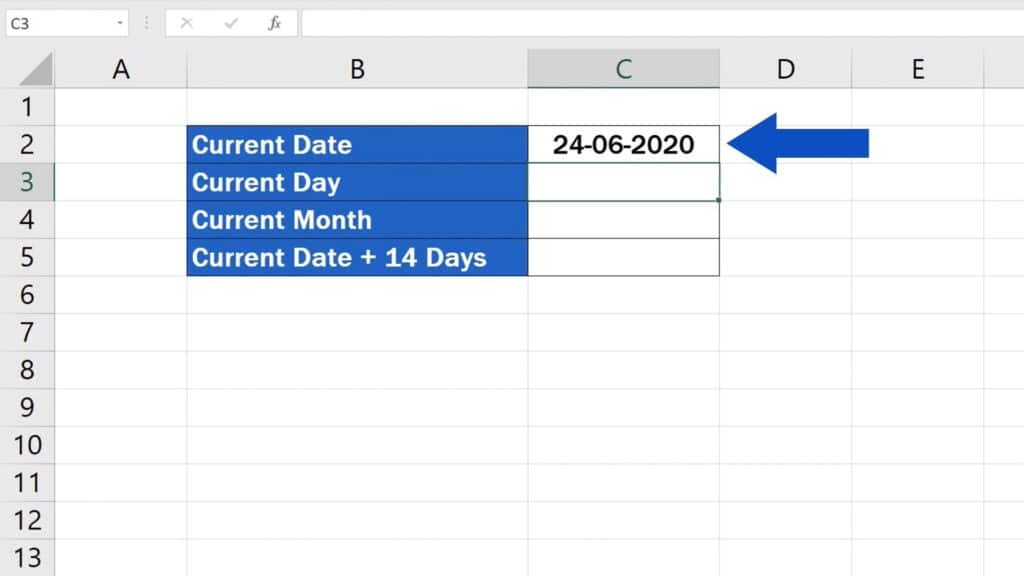 How to Use the TODAY Function in Excel - Current Date